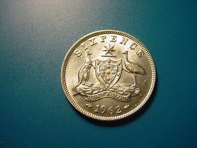 Australia - Silver - 1962 Sixpence In Brilliant Uncirculated Condition