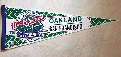 1989  World Series San Francisco Giants Oakland A's Pennant Battle of the Bay