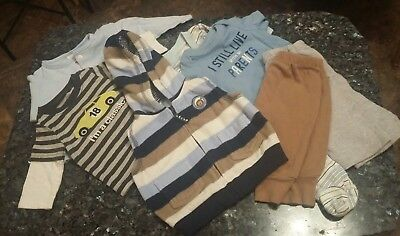 ADORABLE 7 PIECE LOT BABY BOY CUTE CLOTHES Mixed Newborn 0-6 Months Bundle