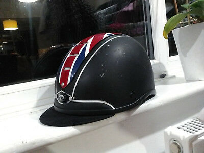 PROtector Riding Hat with British Flag size 58