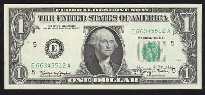 1963-A $1 Henry H. Fowler Courtesy Autograph Federal Reserve Note Uncirculated
