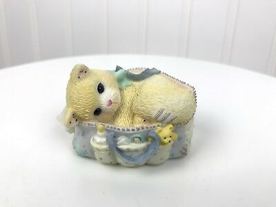 Enesco Calico Kittens Welcoming a Whole New Bag of Tricks Baby Small Figurine
