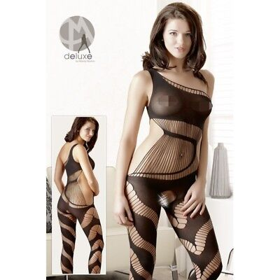 Catsuit ouvert tuta in rete Catsuit bodystocking burlesque intimo donna sexy lin