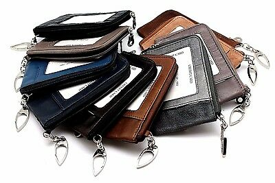 Wholesale Lot of 24 Cow leather Women Coin Pouch with key Chain Holder MI India