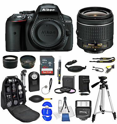 Nikon D5300 18-55mm Ultimate Backpack Bundle+32gb+Flash+ Much More *Brand New*
