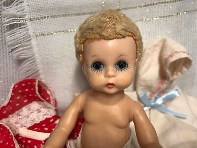 1957 Vintage Madame Alexander Little Genius Doll Baby with clothes