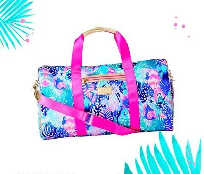 LILLY PULITZER Travel Duffel Bag in Quill Out GWP ~ NWT