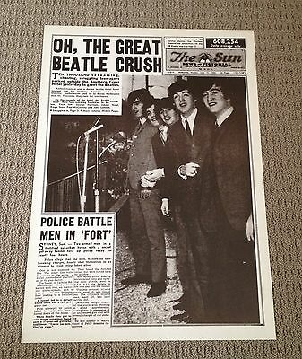 The Sun Newspaper Melbourne Front Page The Beatles June 1964