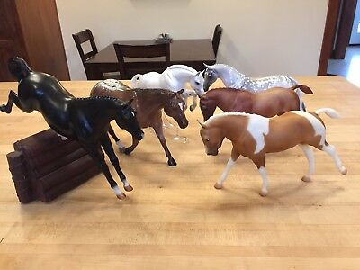 Lot of 6 English Horses - Breyer CWP,  Peter Stone, Black Horse Ranch