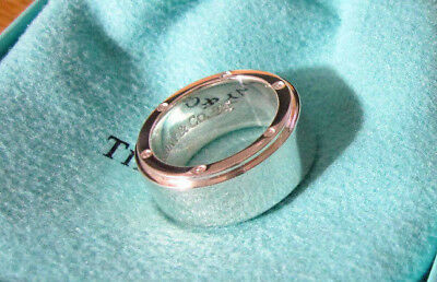 Tiffany & Co. Metropolis Wide Band Ring Size 6 Sterling Silver 925 MINT in Box