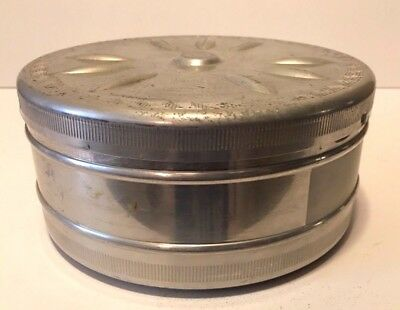 "Vintage Hugo Meyer Filmador Aluminum 16mm 7"" Film Storage Canister"