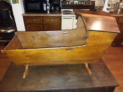 "antique baby cradle 40"" long"