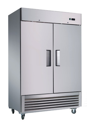 Sybo 50 Cubic Feet 2 Door Stainless Steel Reach-In Commercial Freezer