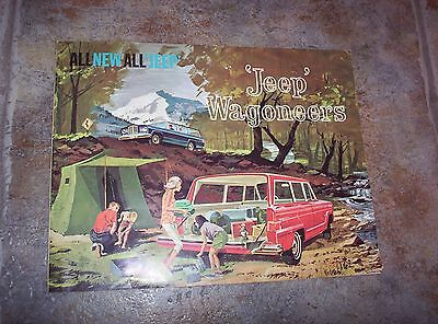 Original Vintage All New All 'Jeep' JEEP Wagoneer Brochure with Specifications