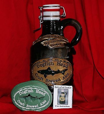 Dogfish Head Brand New Limited Edition Half Gallon Green Ceramic Beer Growler!!!