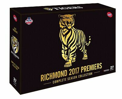 Richmond Tigers 2017 AFL Premiers Complete Season 26 DVD Disc Box Set