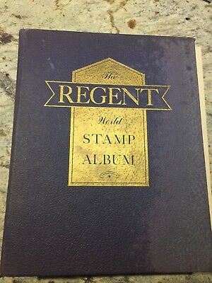 Old Regent Stamp Album World Stamp Album with personal collection