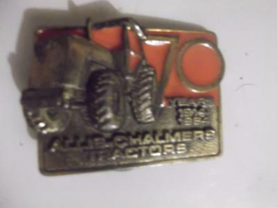 1984 Allis Chalmers Tractor Belt Buckle Brass Agriculture Limited Edition