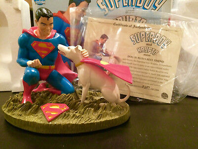 DC Direct Superboy and Krypto Statue Limited Edition 297/1000 In Box