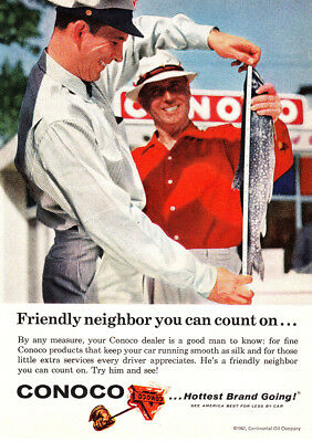 1962 Conoco: Friendly Neighbor You Can Count On Vintage Print Ad