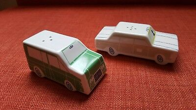 Kate Spade Hopscotch Drive About Town Salt and Pepper Shakers Cars NIB