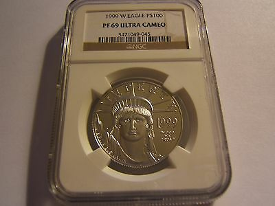 1999 W $100 proof Platinum Eagle NGC PF69 Ultra Cameo
