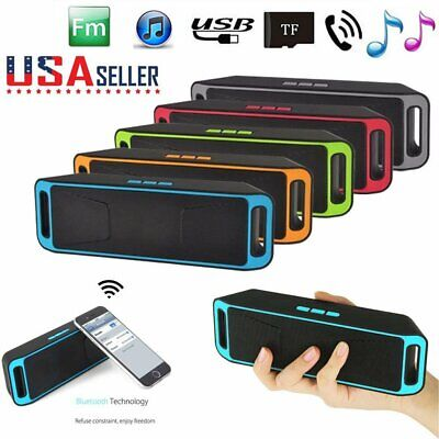 Wireless Bluetooth 3.0 Speaker USB Flash FM Radio Stereo Super Bass MP3 Player