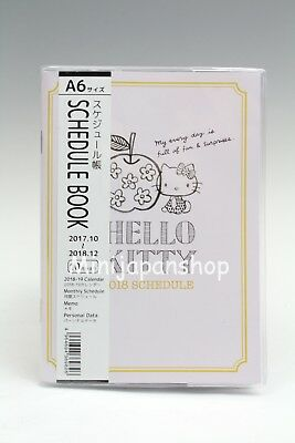 New Sanrio Hello Kitty ver. 2 2018 schedule book Japan US Seller