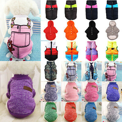 Pet Dog Clothes Puppy Cat Winter Warm Hoodie Sweater Coat Jacket Apparel Costume