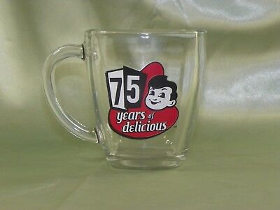 Big Boy Burger Novelty Clear Glass Coffee Mug/Cup, 75 Years of Delicious