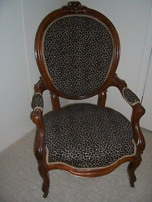 Parlor/accent/decorative Side Chair~ Awesome Leopard Print Upholstery!!