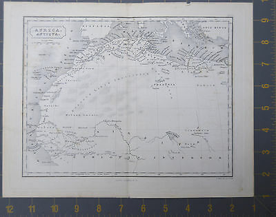 Ancient Northern Africa Egyptian Map 1830 Copper Plate 11x9 Inchhes