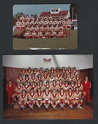 Unique South Melbourne Swans early 1980s Team Photos - Taken at training