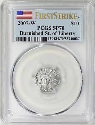 2007-W $10 Platinum American Eagle First Strike PCGS MS70