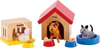 New Hape All Seasons Doll Furniture - Family Pet Set Childrens Toy