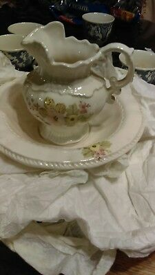 Vintage Wash Bowl Basin and Water Pitcher. Made in USA