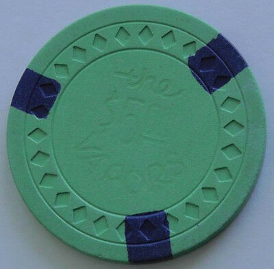 THE VAPORS, $5.00, Green, Hot Springs Illegal Chip, 3Blue Inserts, Diamond Mold