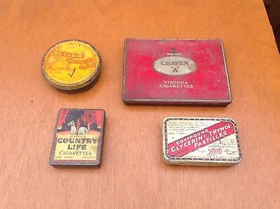 Vintage three cigarettes tin one Tobacco tin