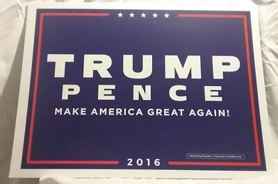 Donald J Trump -  Mike Pence Campaign Yard Sign Corrugated Plastic MAGA
