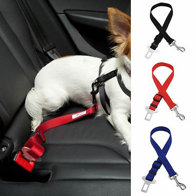 1Pc Nylon Cat Dog Pet Safety Car Vehicle Strap Seat Belt Adjustable Harness Lead