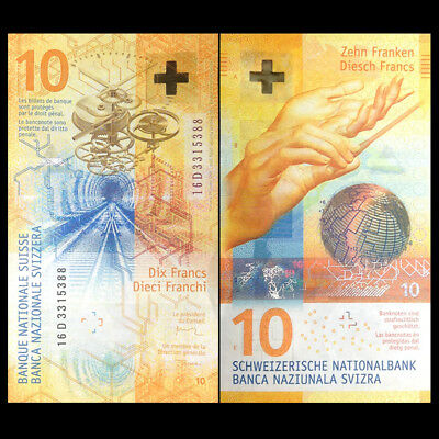 Switzerland 10 Francs, 2016(2017), P-NEW, Hybrid, NEW DESIGN, UNC