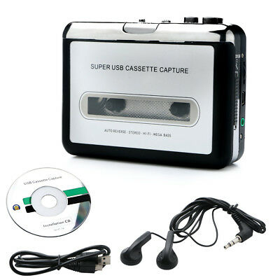 Portable Tape to Super Cassette Capture MP3 Player Converter With USB Cable NEW