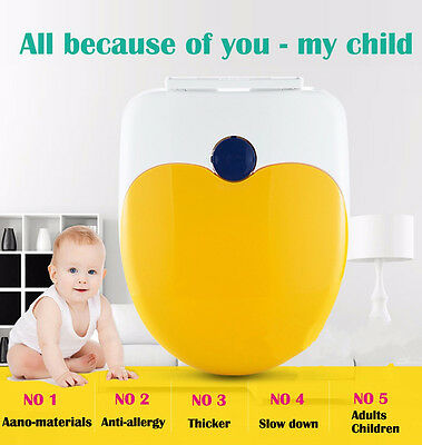 2pcs Toddler Adult Family Toilet Double Lid Child Potty Training Seat Cover OZ