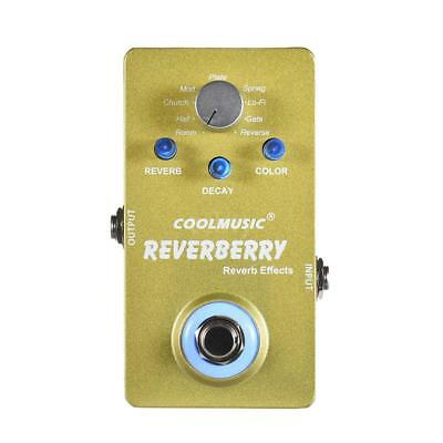 Guitare Electrique Digital Reverb effet PEDAL w/9 Reverb Effects TrueBypass S9H1