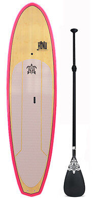 Stand up Paddle SUP board 9'8  + Grip +  Paddle : Bamboo finish