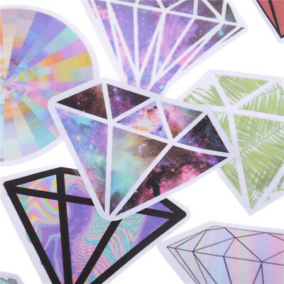 18x New Diamonds Stickers For Car Laptop Luggage Skateboard Motorcycle Decal Toy