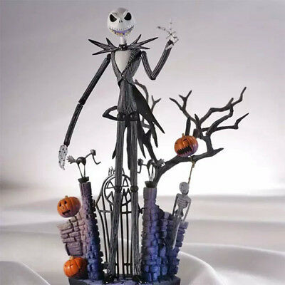 Hot The Nightmare Before Christmas Jack Skellington Action Figure Toy 7'' In Box