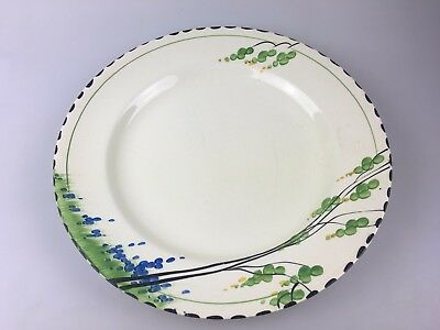 Art Deco - Burleigh Ware - England - Dinner Plate Hand Painted - Bluebelle #4629