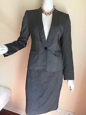 Size 8 Country Road Wool/silk Suit -Dinner, Party, Wedding,Event, Corporate