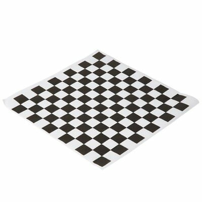 Food Grade Wax Coated Paper Checkered Deli Wrap Black and White 100 Pack Set